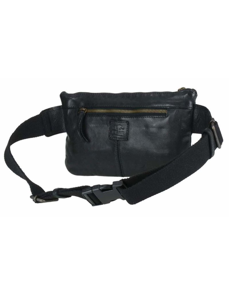 Bear Design Small leather bags, clutches and more - Bear Design waist bag from washed leather Bella (black)