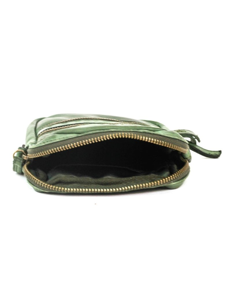 Bear Design Small leather bags, clutches and more - Bear Design shoulder bag Vikas (olive green)