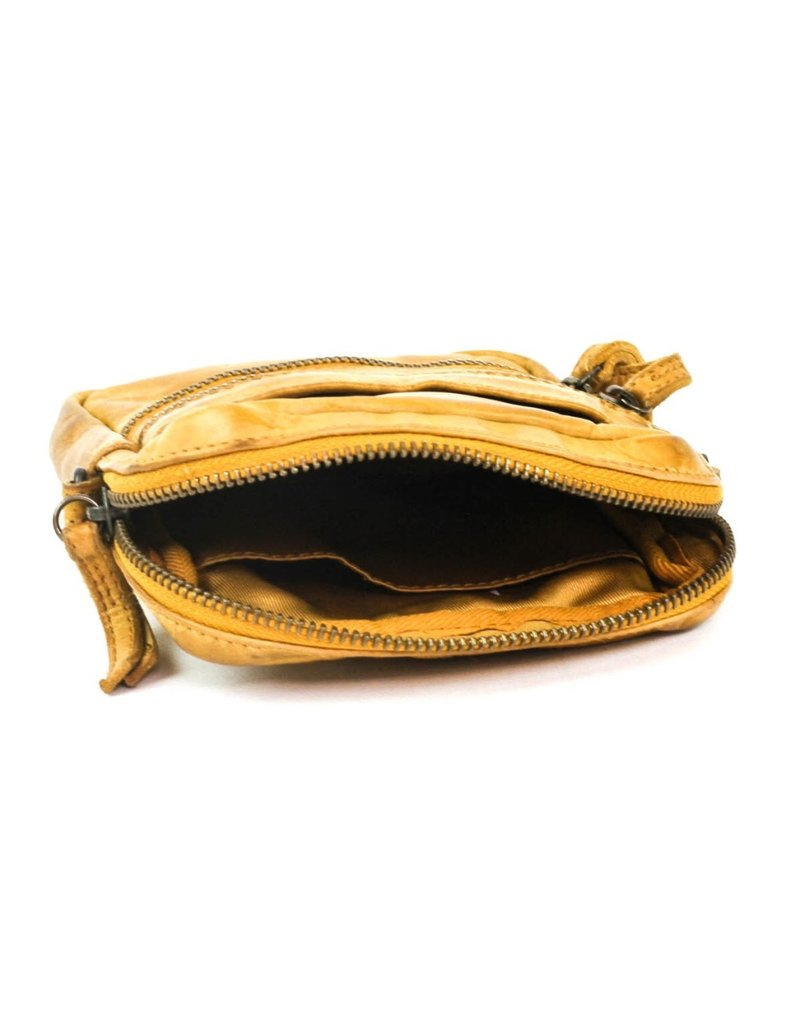 Bear Design Small leather bags, clutches and more - Bear Design shoulder bag Vikas (ocher yellow)