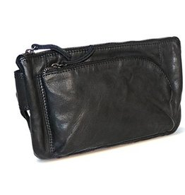 Bear Design Bear Design waist bag from washed leather Bella (black)