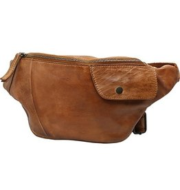 Bear Design Bear Design waist bag from washed leather Matt (cognac)