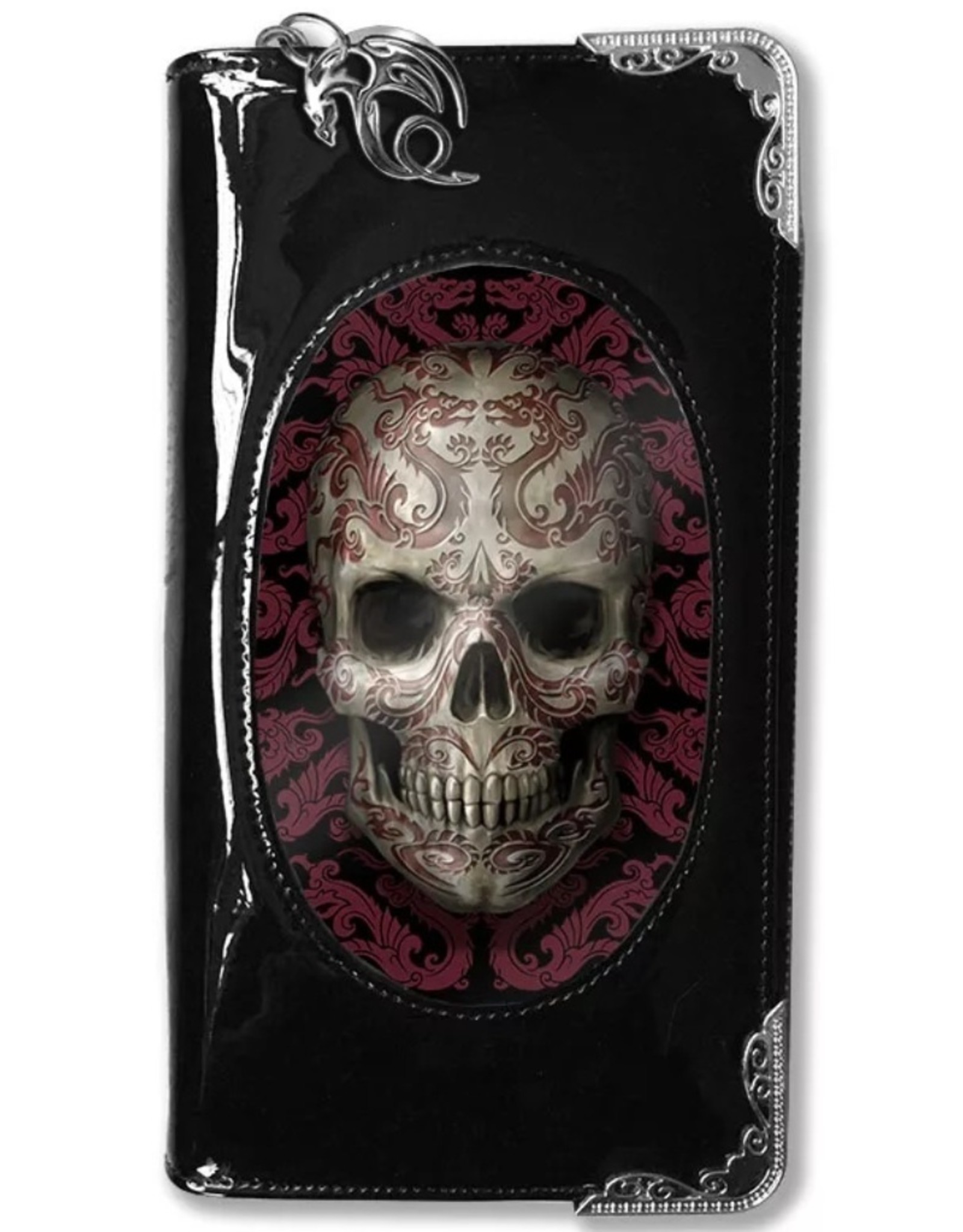 Anne Stokes 3D Wallets and Purses - 3D Purse Oriental Skull - Anne Stokes