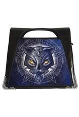 Alchemy Gothic bags Steampunk bags - Alchemy lenticular handbag Star of Allouros Cat Hexagram