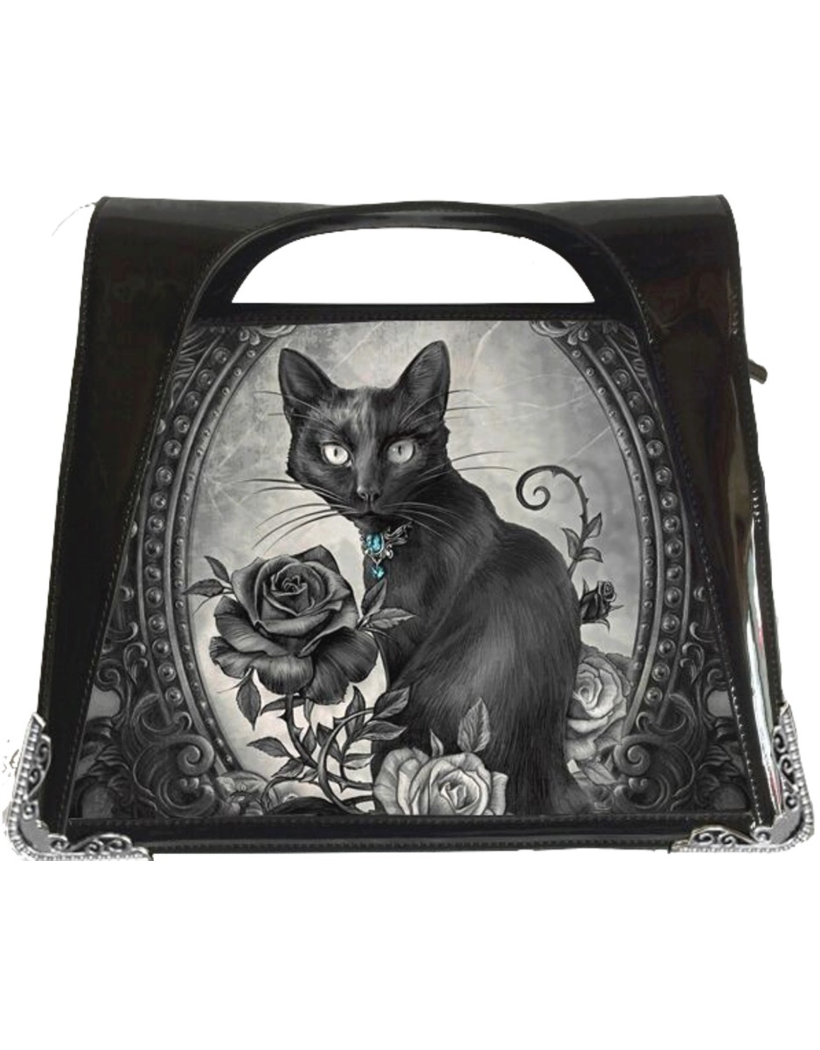 Alchemy Gothic bags Steampunk bags - Alchemy Parcelsus 3D lenticular handbag Black Cat with Roos