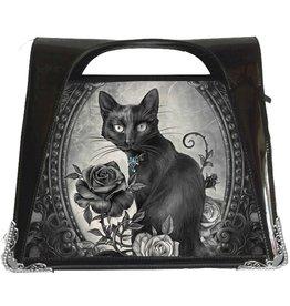 Alchemy Alchemy Parcelsus 3D handtas Zwarte Kat met Roos