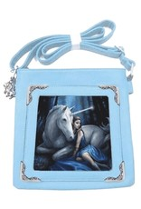 Anne Stokes Fantasy bags - Anne Stokes lenticular shoulder bag  Blue Moon Unicorn