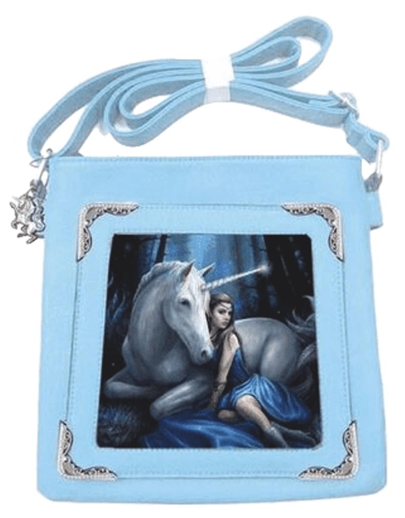 Anne Stokes Fantasy tassen -  Anne Stokes 3D schoudertas Blue Moon Unicorn