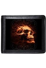 Tom Wood 3D portemonnees - Tom Wood Fantasy Art 3D portemonnee Fire Skull