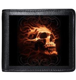 Tom Wood Tom Wood Fantasy Art 3D lenticular wallet Fire Skull