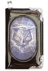 Alchemy Gothic wallets and purses - Alchemy 3D lenticular purse Star of Allouros cat head