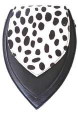 Trukado Small leather bags, clutches and more - Leather bum bag with leopard print cover (black-white)