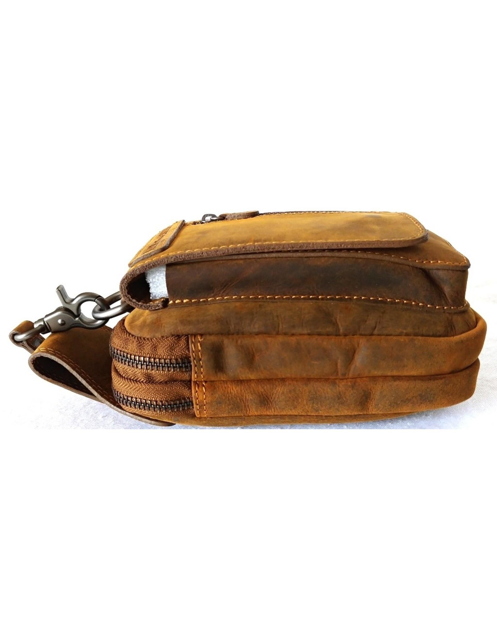 HillBurry Leather festival bags, waist bags - Hillburry Leather Belt Bag Brown (Buffalo leather)