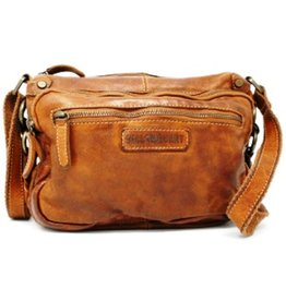 HillBurry HillBurry Leather Shoulder bag of Washed Leather Cognac