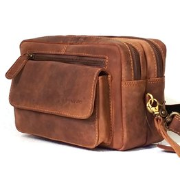 BestBurry BestBurry Leather Shoulder Bag with many compartments