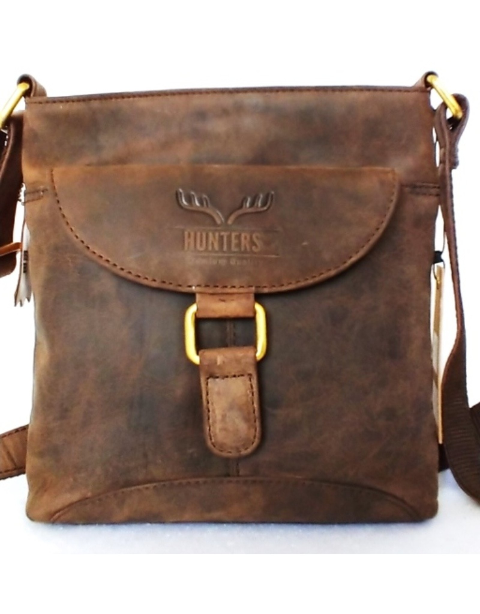Hunters Leather bags - Hunters leather shoulder bag brown