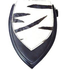 Leren heuptas met zebra print omslag (zwart)