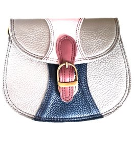 Trukado Leather shoulder bag platinum