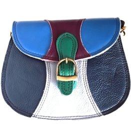 Trukado Leather shoulderbag multicolor