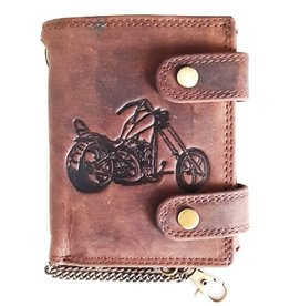 Hunt Club Leather wallet with Embossed Motor (vertical)