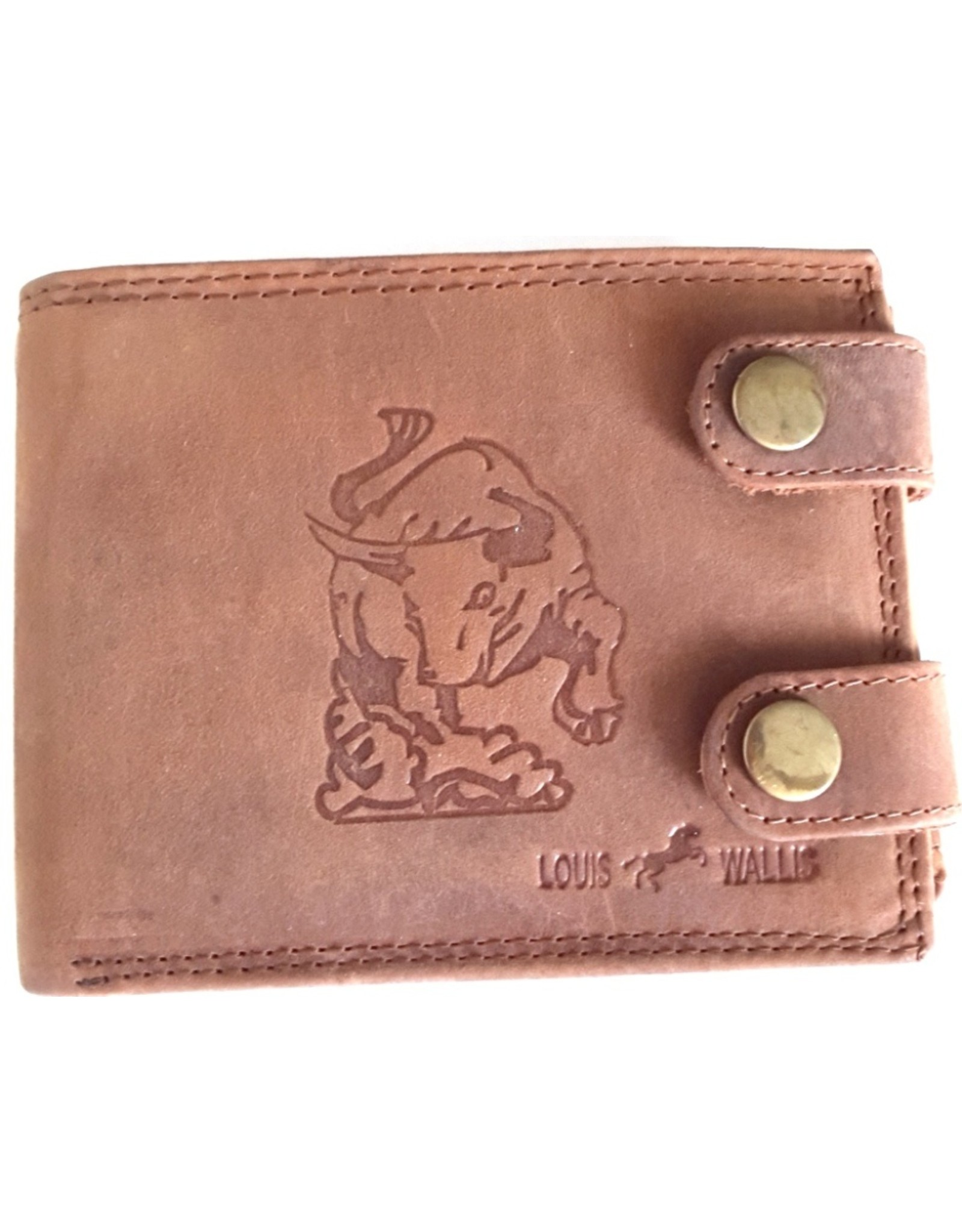 Louis Wallis Leather Wallets -  Leather wallet with embossed print Taurus