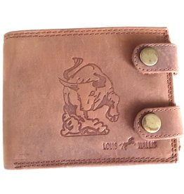 Louis Wallis Leather wallet with embossed print Taurus