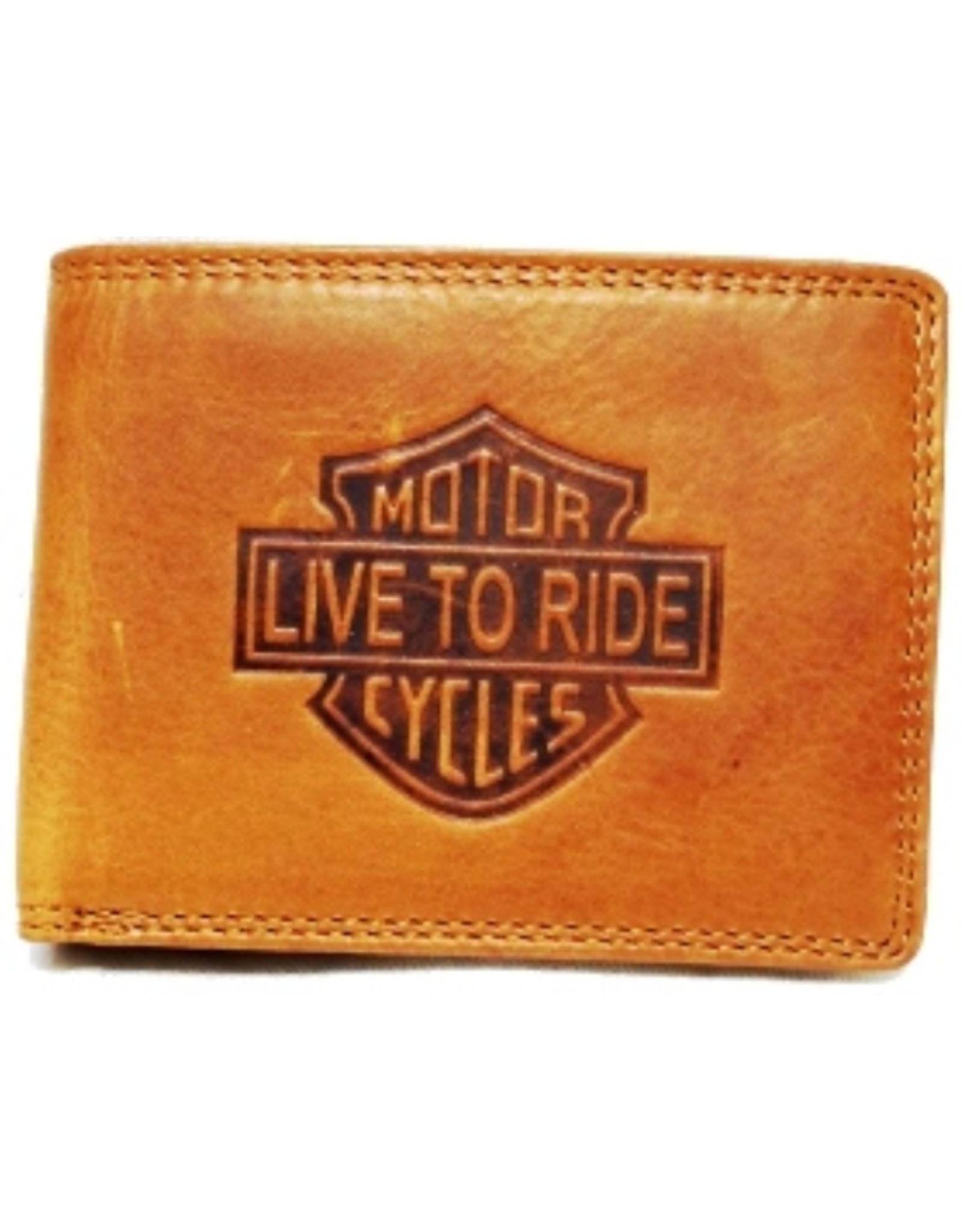 HillBurry Leren portemonnees - Leren Portemonnee HillBurry Motocycle