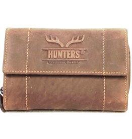 Hunters Leren portemonnee Hunters - Uniseks donkerbruin