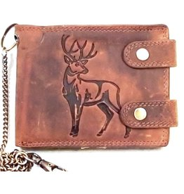 hunt Club Leather wallet with embossed Deer print