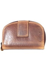BestBull Leather Wallets -  Leather wallet with semicircular top BestBull brown