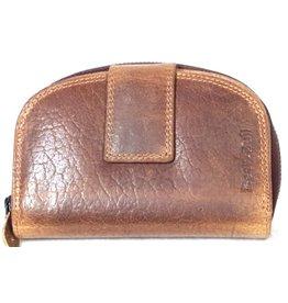 BestBull Leren portemonnee met halfronde bovenkant BestBull bruin