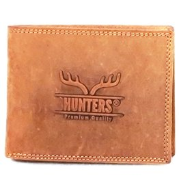 Hunters Leather wallet Hunter light brown (without coin compartment)