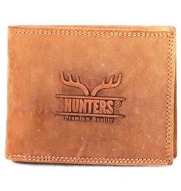 Hunters Leren portemonnee Hunters licht bruin (zonder muntvak)