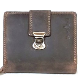 BestBull Leather wallet with slide closure and zip pocket