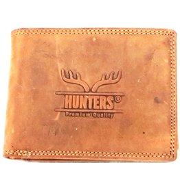 Hunters Leren portemonnee Hunters licht bruin (cognac)