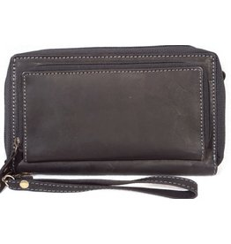 MicMac Leather wallet with mobile phone compartment MicMac (black)