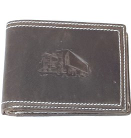 Stern Leather wallet with embossed Truck