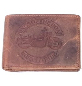 Hunter Leather wallet King of the Road