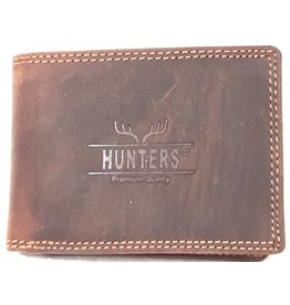 Hunters Leather wallet Hunters dark brown