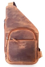 Hunters Leather bags - Leather crossbody holster Hunters - tanned leather