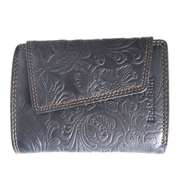 Best Burry Leather wallet with embossed flowers (medium)