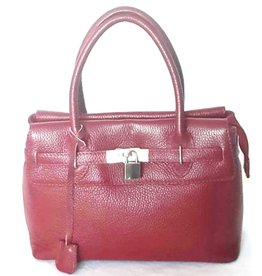 Leslly Leslly Leather Hand bag Red 288