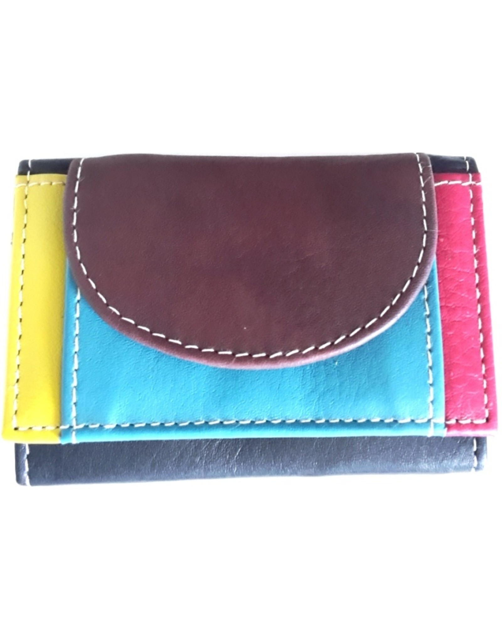 Hutmann Leather Wallets - Leather mini wallet in collored leather