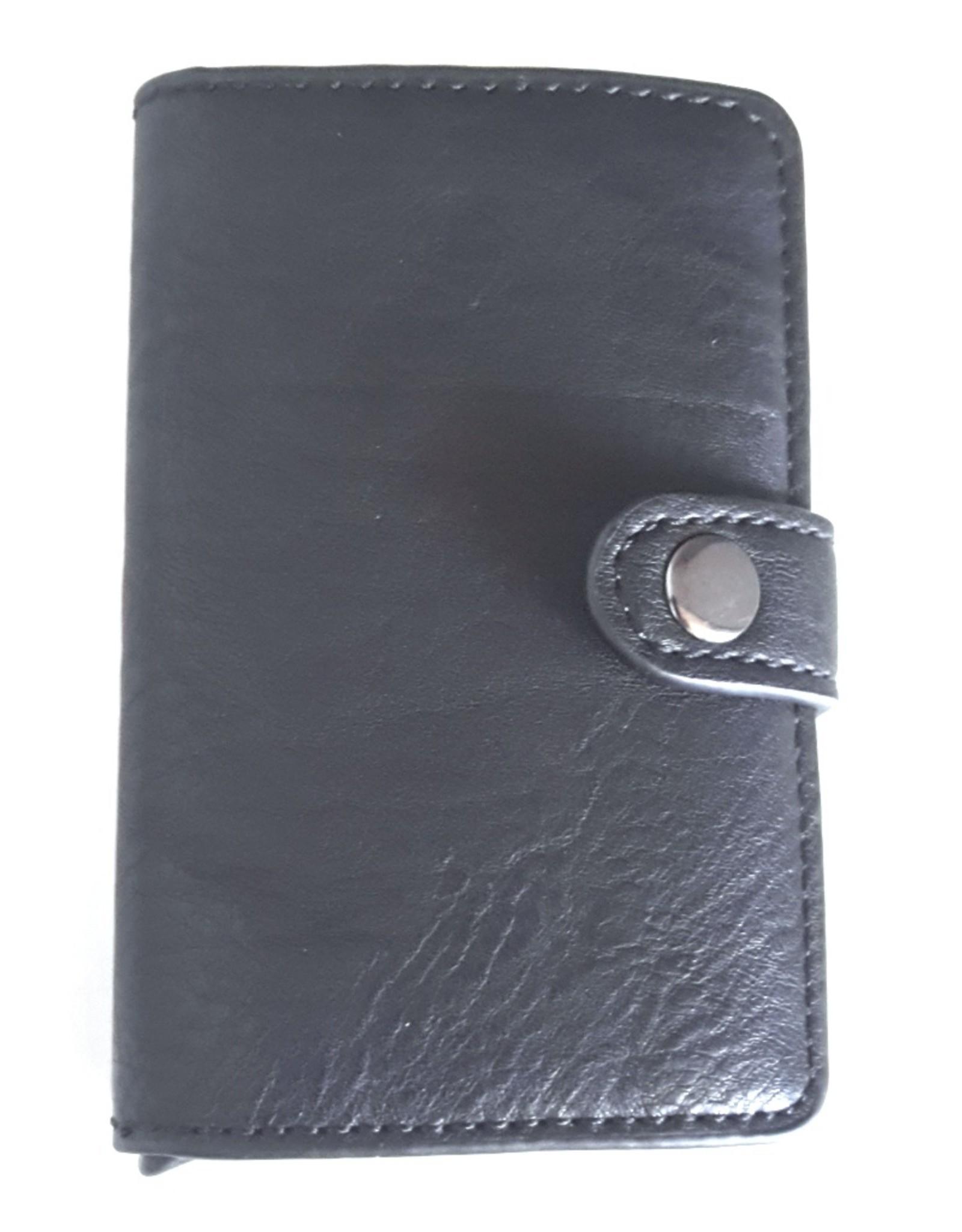 Avond tassen, Clutches en Portemonnees - Miniwallet met aluminium card protector (zwart)