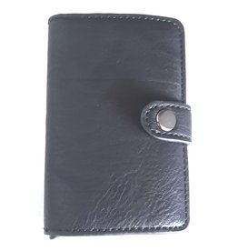 Hütmann Miniwallet met aluminium card protector (zwart)