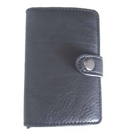 Miniwallet met aluminium card protector (zwart)