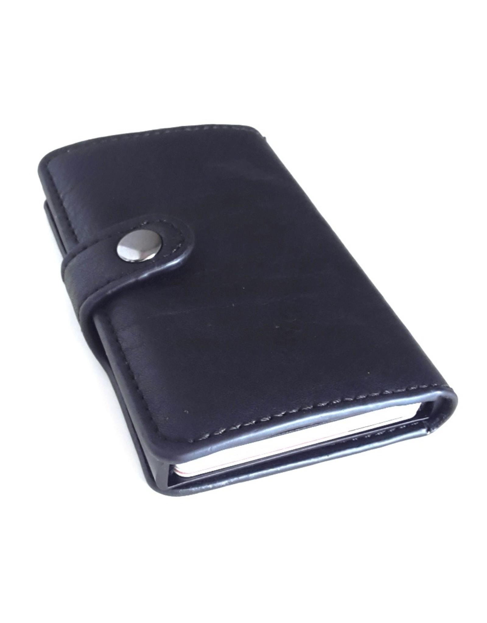 Hütmann Avond tassen, Clutches en Portemonnees - Miniwallet met aluminium card protector (zwart)