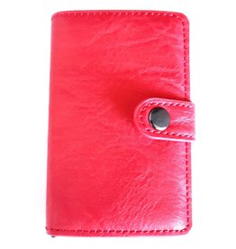 Mini wallet with aluminium card protector (red)