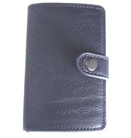 Hutmann Mini wallet with aluminium card protector (dark blue)