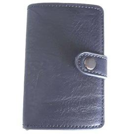 Miniwallet met aluminium card protector (d. blauw)