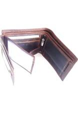 Leren Portemonnees - Leren portemonnee met reliëf paardenhoofd (horizontaal)